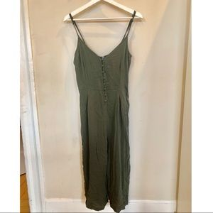 Kendall and Kylie Olive Green Cropped Jumpsuit XS